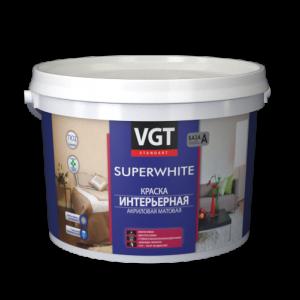 VGT краска интерьерная акриловая матовая 3кг