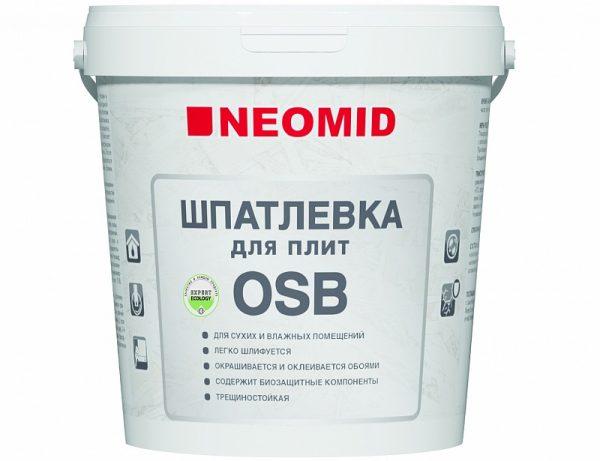 Neomid шпатлёвка для плит osb