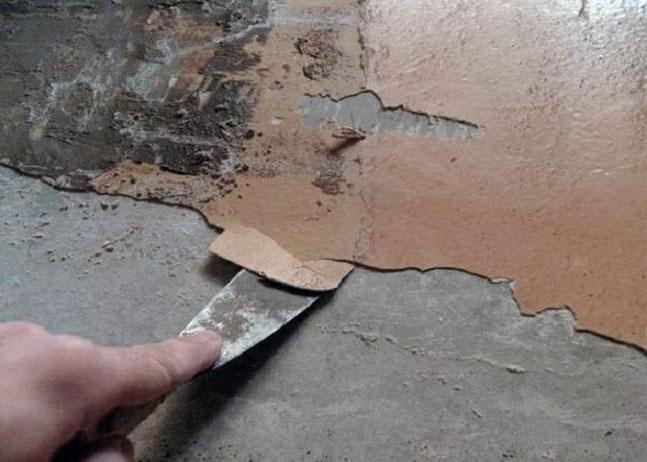 Удалите старые материалы